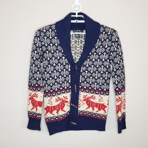 21 Men Button Front Christmas Cardigan Sweater XS